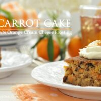 "This Carrot Cake with Orange Cream Cheese Frosting is moist and delicious and it will absolutely ""wow"" your family and friends"