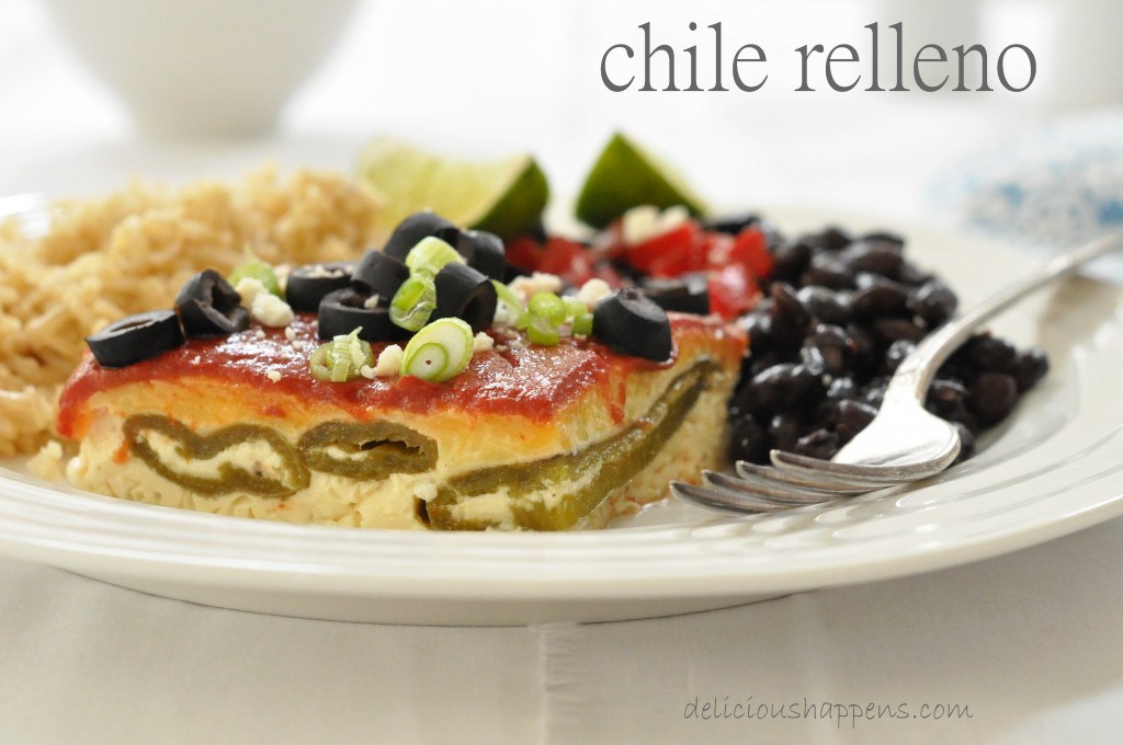 This Chile Relleno is made with canned green chilies, milk, eggs and cheese and comes together in a pinch