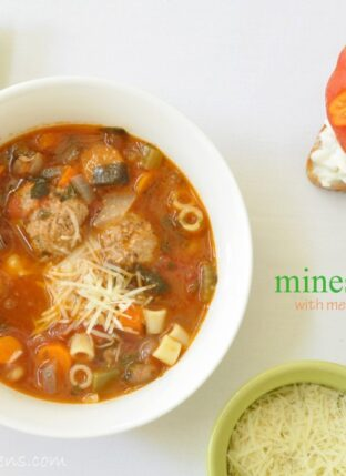 Minestrone Soup with Meatballs
