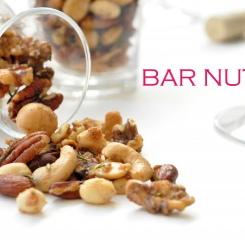 These Bar Nuts are sweet and savory and completely addicting