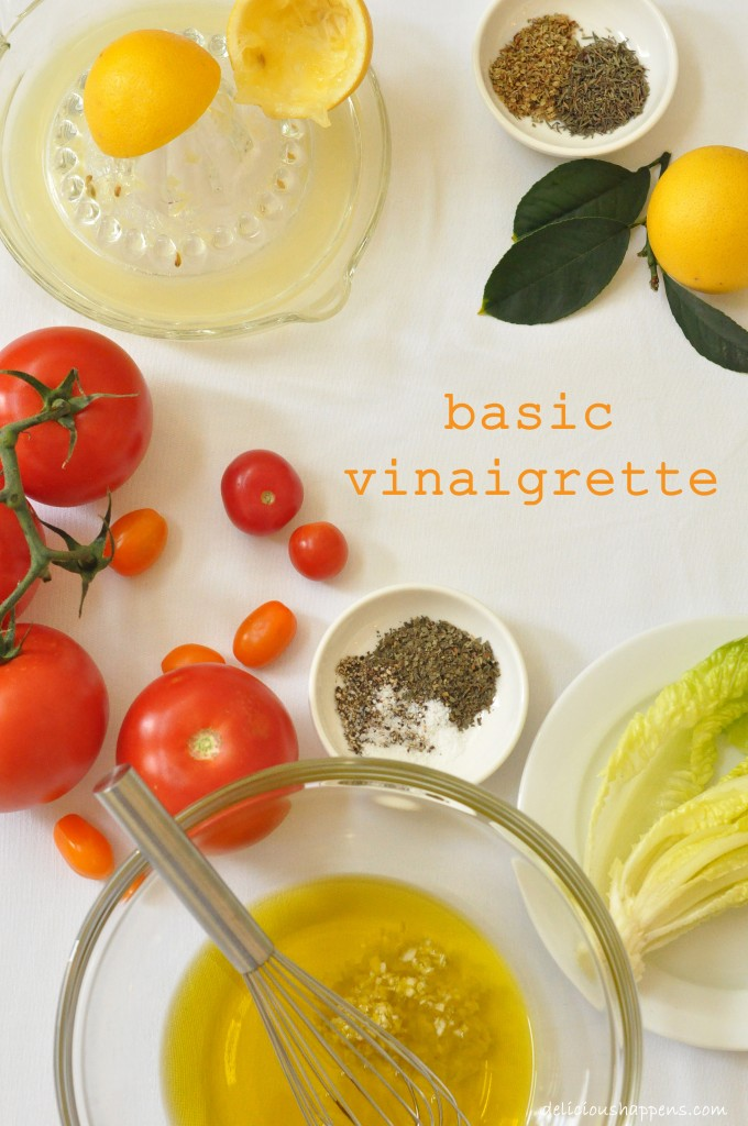 This Basic Vinaigrette is quick and easy to make