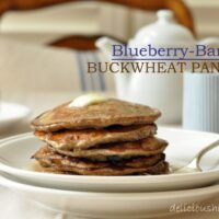 These Blueberry Banana Buckwheat Pancakes are light and fluffy and loaded with fruit