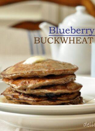 Blueberry Banana Buckwheat Pancakes