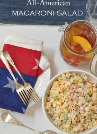 Macaroni Salad with Ham and Cheese