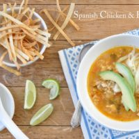 This Spanish Chicken and Rice Soup (also called Mexican Chicken and Rice Soup) is a richly flavored chicken rice soup seasoned with traditional Mexican flavors