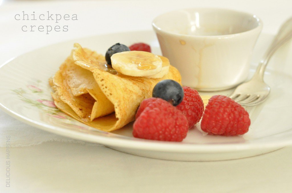 Chickpea crepes are a thin savory gluten free pancake that are perfect for breakfast or use them as a wrap for chicken and vegetables