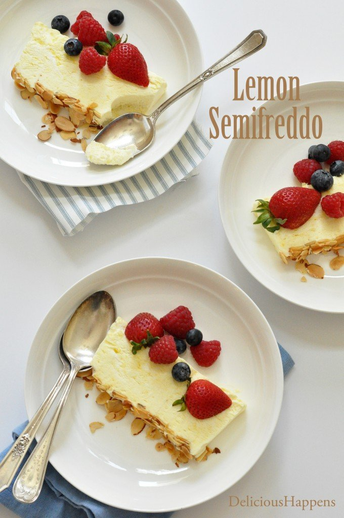 lemon semifreddo