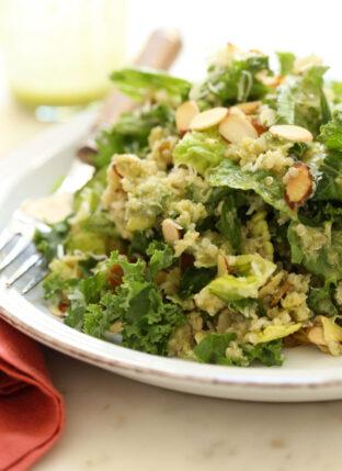 Kale Salad with Basil Vinaigrette