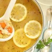 Nourishing Lemon Chicken Quinoa Soup is loaded with tender bites of chicken, quinoa and vegetables, simmered in a lemon chicken broth