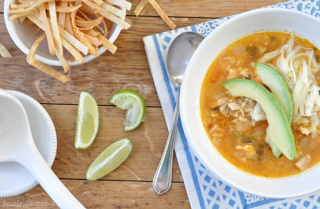 from The Harvest Kitchen / this Mexican Chicken and Rice Soup is rich ...