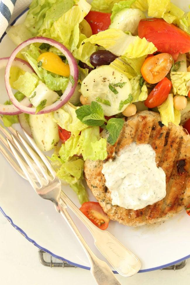 greek-turkey-burgers-with-greek-salad