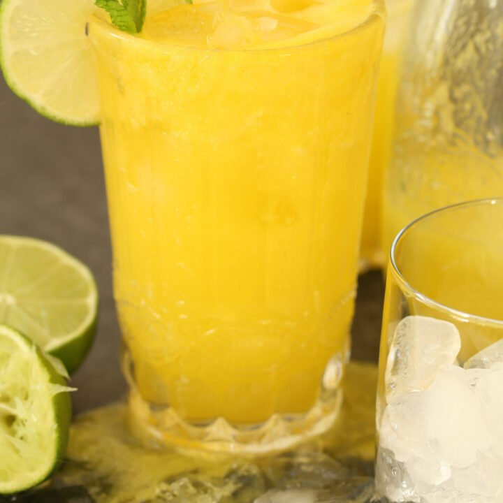 Pineapple Ginger Cleansing Juice is a delicious juice blend made with organic pineapple, ginger root, turmeric root and lime