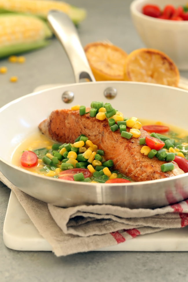 seared-salmon-with-summer-succotash