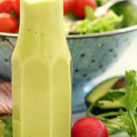 This creamy Avocado Citrus Vinaigrette is made with avocado, cilantro, orange juice, olive oil and a little jalapeno