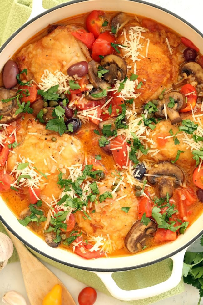 One Pan Italian Chicken The Harvest Kitchen