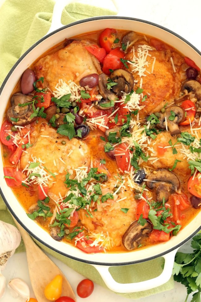 One pan italian chicken the harvest kitchen one pan italian chicken forumfinder Choice Image
