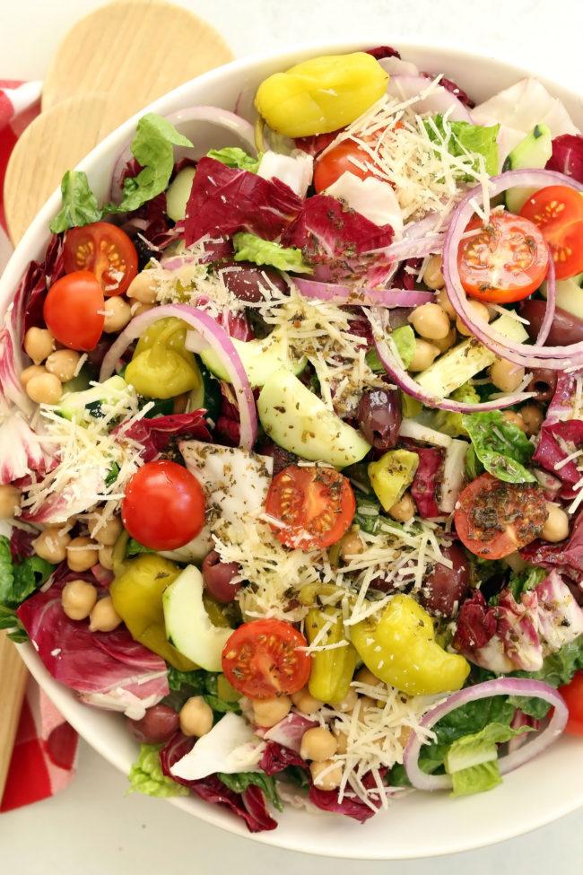 bowl of Italian salad