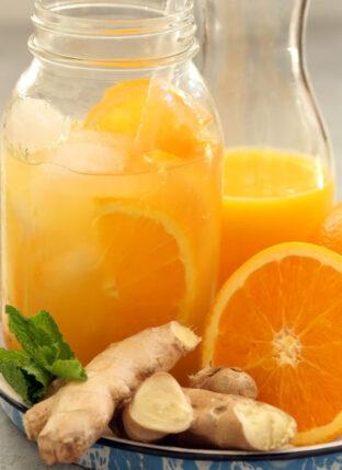 Iced Orange Ginger Green Tea