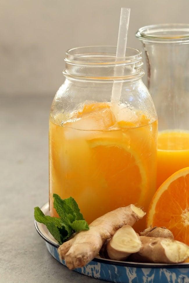 Iced Orange Ginger Green Tea The Harvest Kitchen