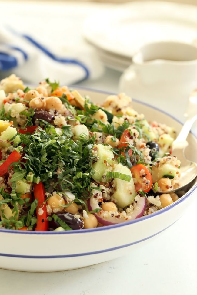 This Mediterranean Quinoa Salad recipe is easy to make and turns out perfect every time