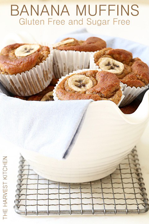 These airy and light Gluten Free Banana Muffins are made with coconut flour, almond butter, bananas, eggs and a little coconut oil