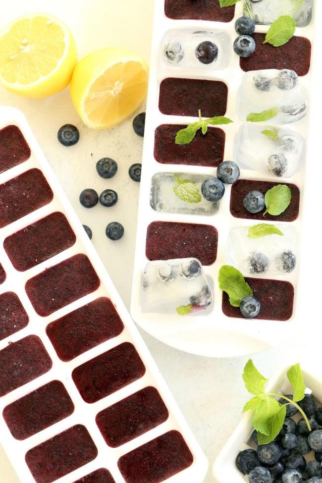 Antioxidant Rich Blueberry Ice Cubes