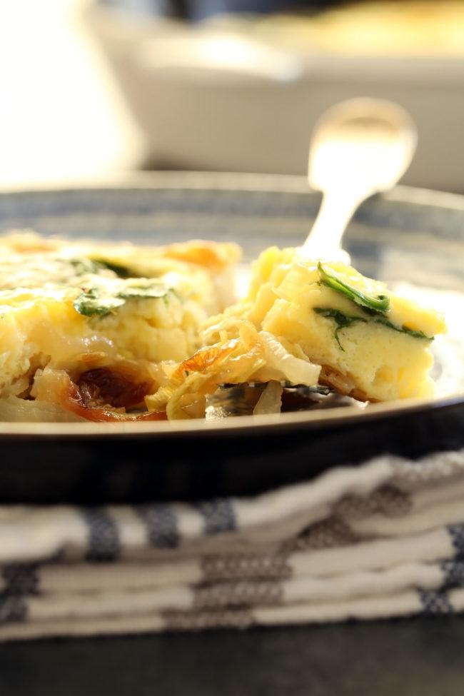 simple-spinach-leek-onion-frittata