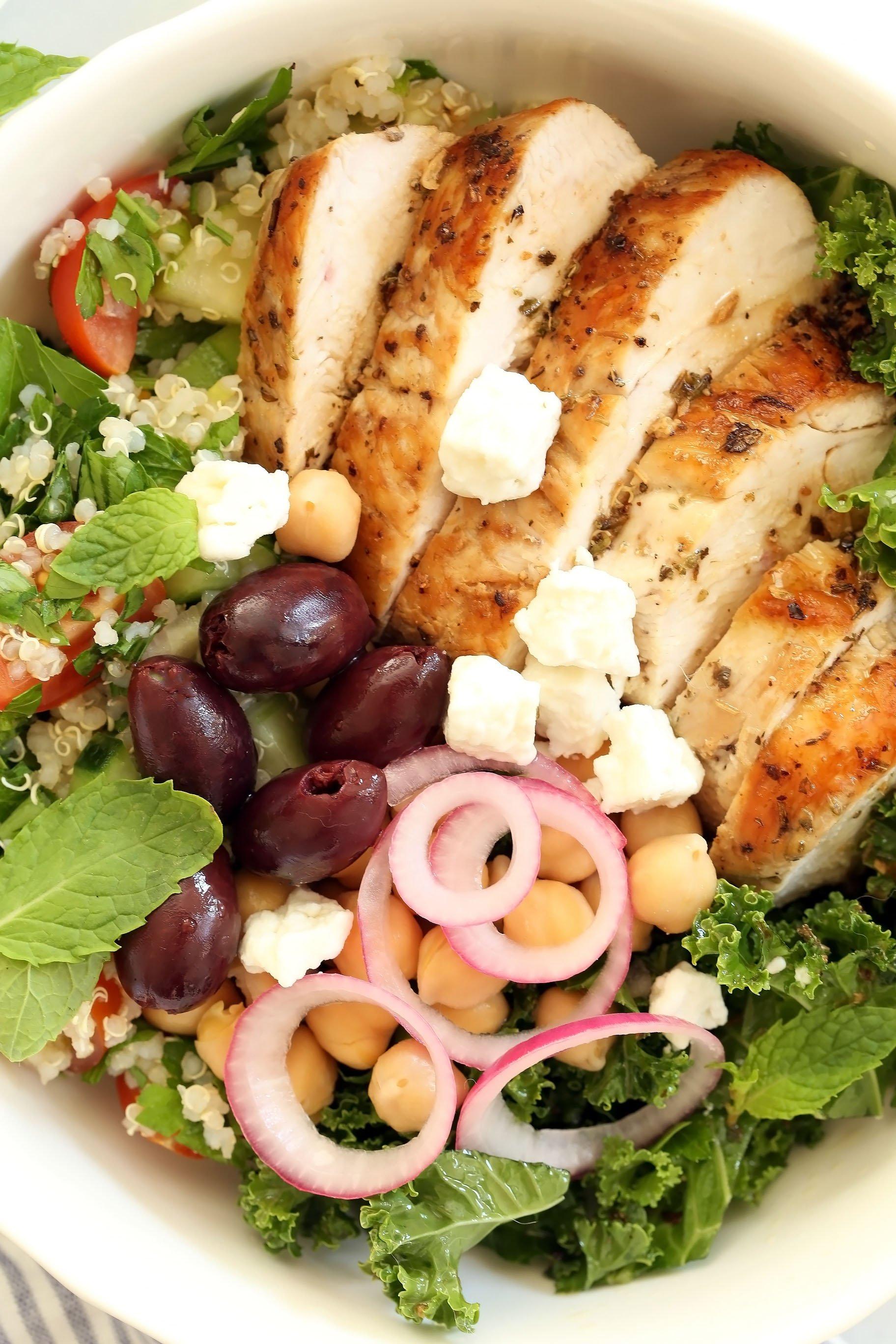 Greek Chicken Bowl The Harvest Kitchen