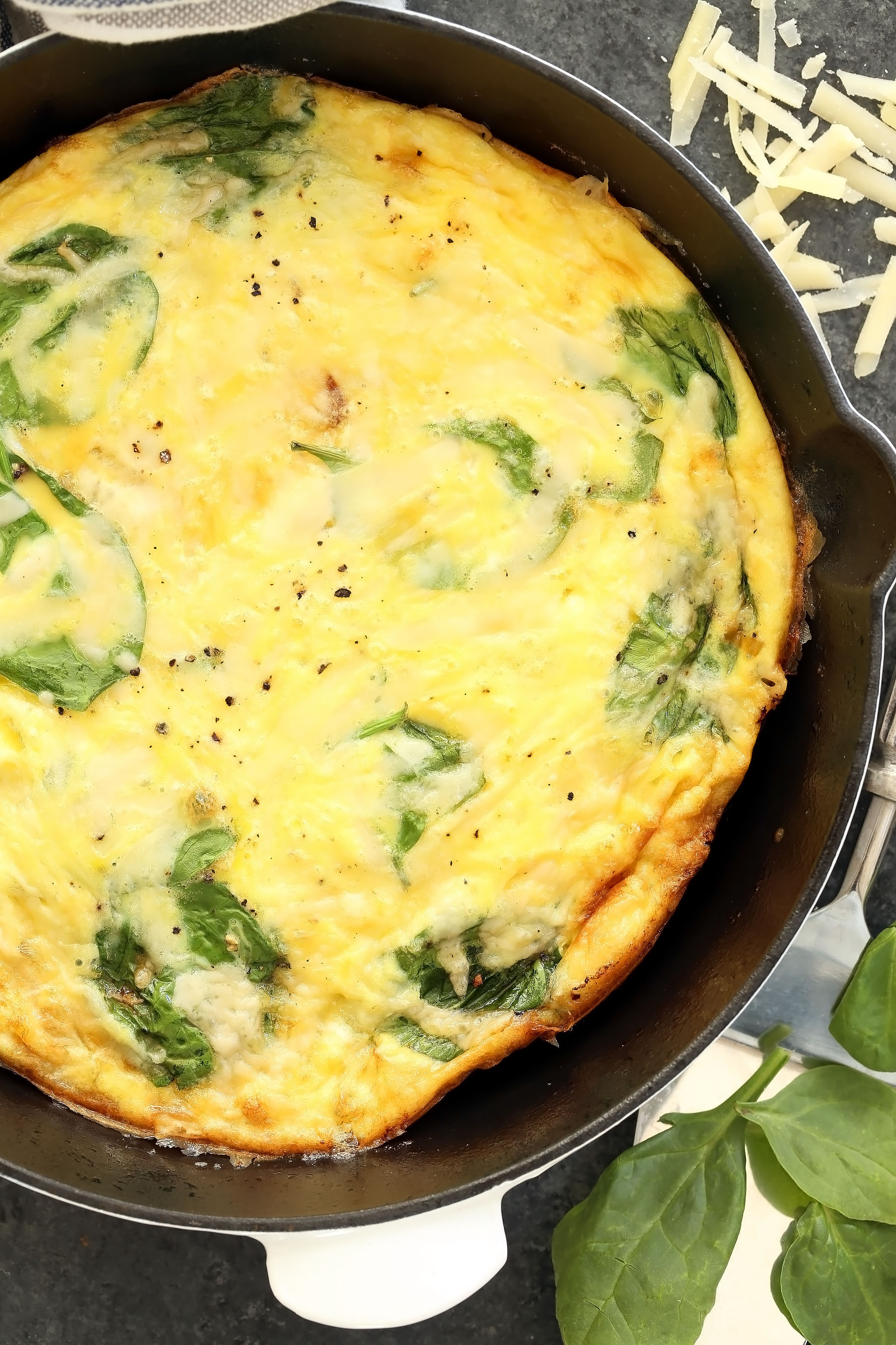 Simple Spinach, Leek & Onion Frittata - The Harvest Kitchen