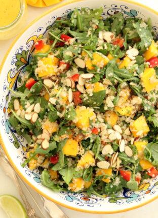 Mango Arugula Quinoa Salad