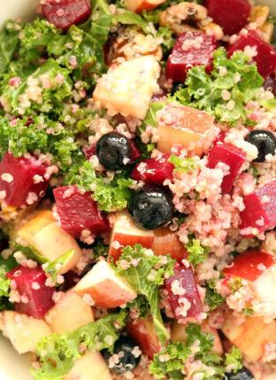Beet Kale Quinoa Salad