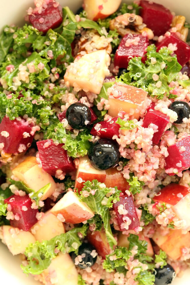 This Beet Kale Quinoa Salad is a powerhouse salad that's loaded with superfoods