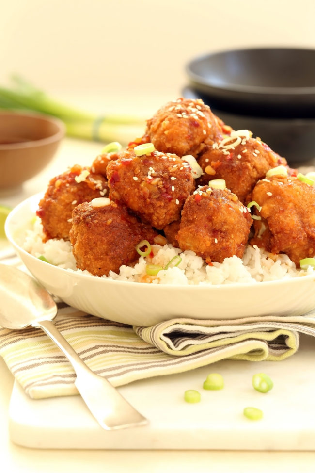 This Baked General Tso's Cauliflower is easy to make, super delicious and every bit as spicy-sweet and crispy-good as a fried version. Serve it as a vegetarian main dish, a side dish or as a fun appetizer