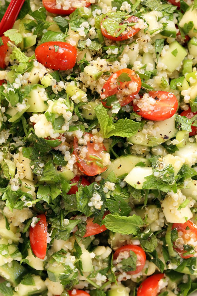 Crunchy Quinoa Tabbouleh Salad - The Harvest Kitchen
