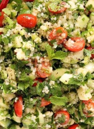 Crunchy Quinoa Tabbouleh Salad