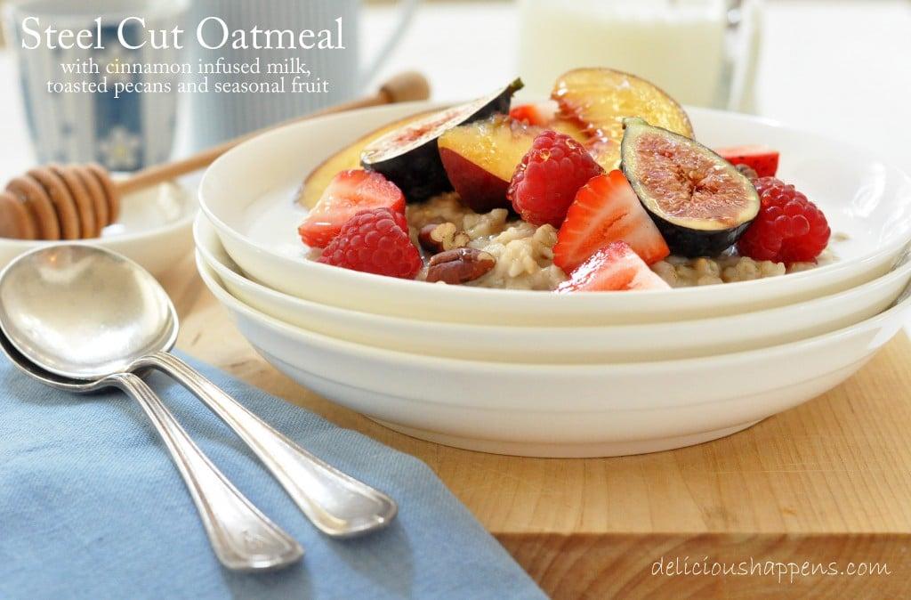 oatmeal with cinnamon milk