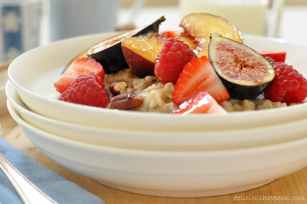 steel cut oatmeal with fruit