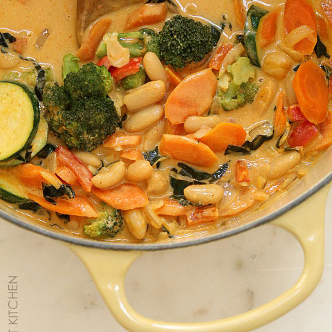 Coconut Curry Veggies and Beans