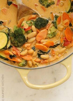 Easy Coconut Curry Vegetables and Beans
