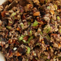 This Wild Rice Salad has an incredible combo of flavors, and makes a great gluten-free side dish for special occasions or no occasion at all