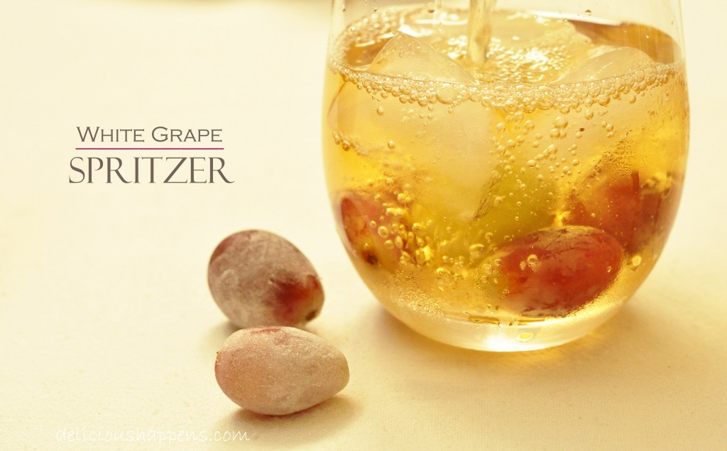 This White Grape Spritzer is super refreshing and makes a really festive non-alcoholic drink
