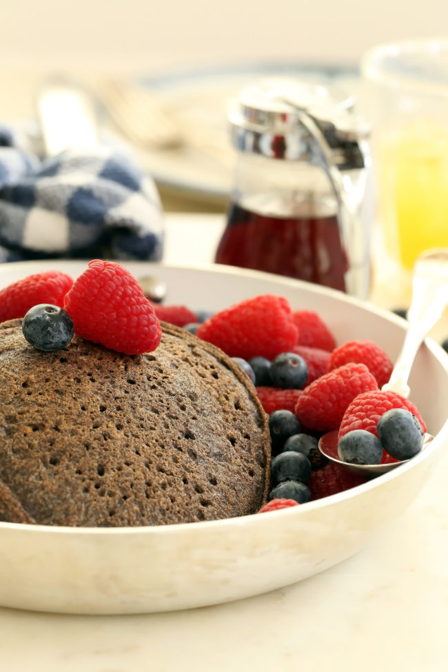 This heart-healthy Buckwheat Pancakes Recipe is gluten-free and dairy-free and super simple to mak