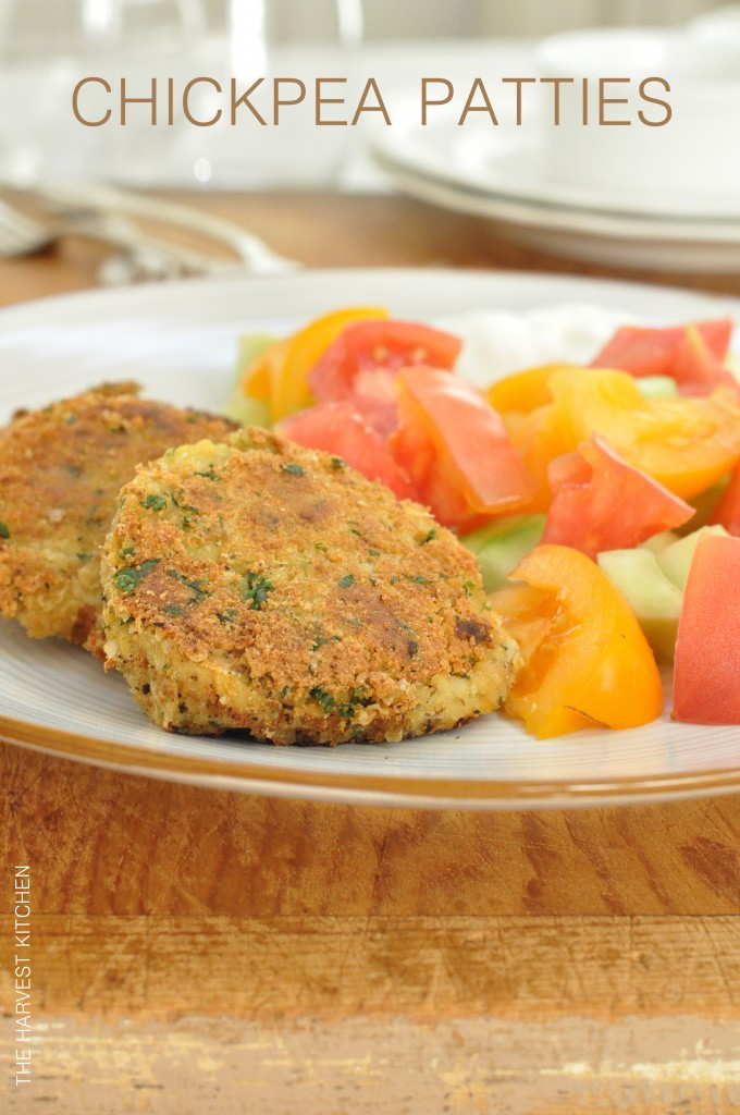 These Chickpea Patties are slightly crispy on the outside and tender and moist and flavorful on the inside
