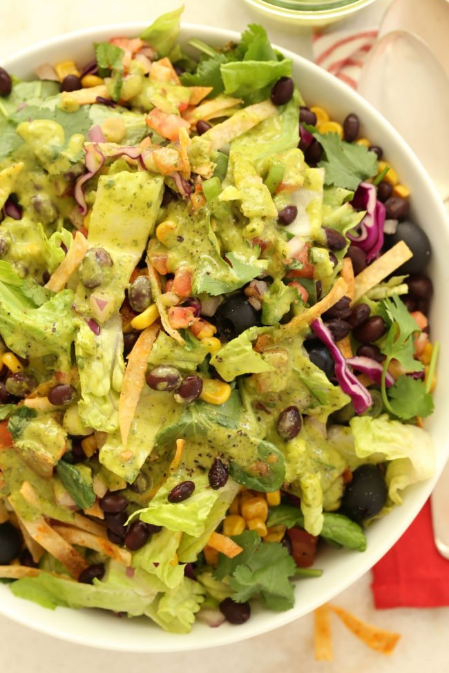 vegetarian mexican chopped salad the harvest kitchen