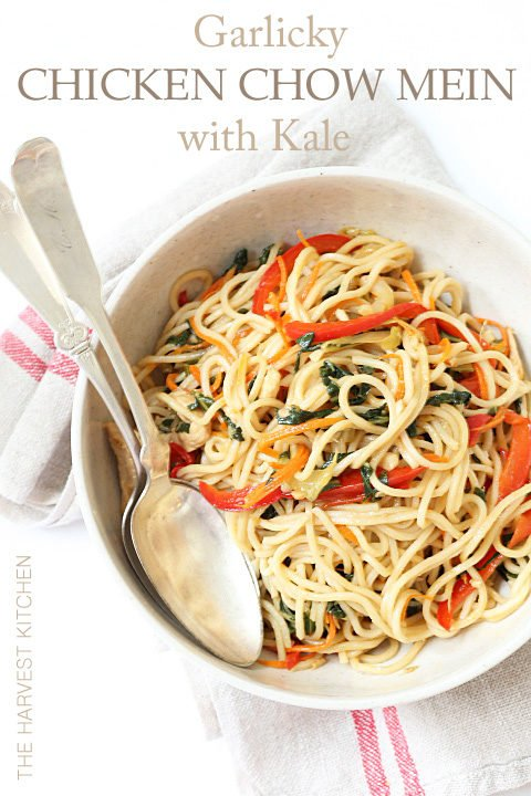 This Chicken Chow Mein Recipe is made with tender noodles, fresh sauteed vegetables and chicken breast all tossed in a delicious Chinese sauce