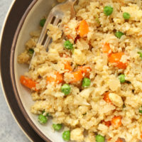 This Cauliflower Fried Rice is a healthy low-carb take on fried rice that's quick and easy to make and tastes as good as take-out