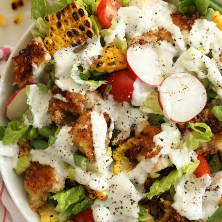 fried-chicken-chopped-salad