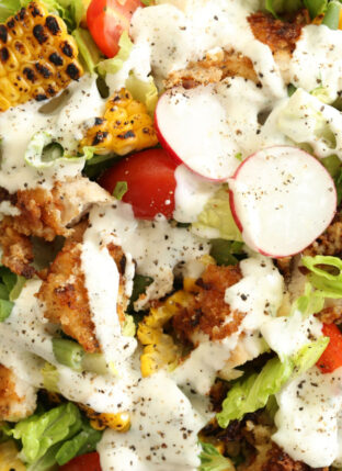Fried Chicken Chopped Salad