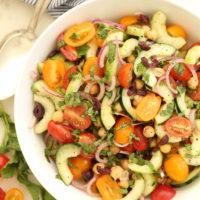 Mediterranean Chickpea and Tomato Salad