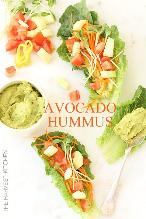 This Avocado Hummus is a delicious blend of guacamole and hummus.